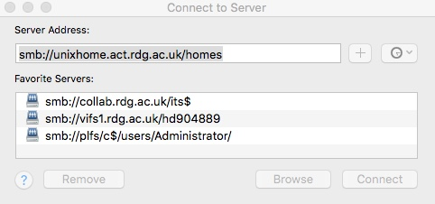 Access your Unix Home Directory from your desktop or laptop