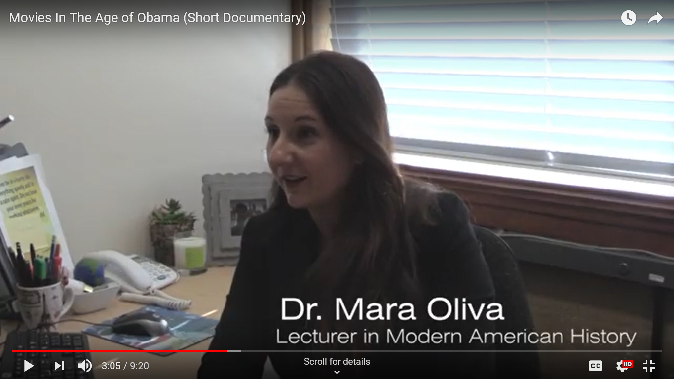 Dr Mara Oliva featuring in new short documentary on Obama and Hollywood