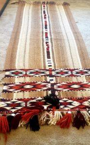 Camel wool rug