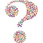 Artistic coloured question mark