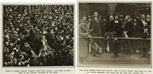 2 photos taken in Plymouth after Lady Astor's election