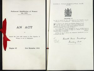 2 pages of an Act of Parlialment