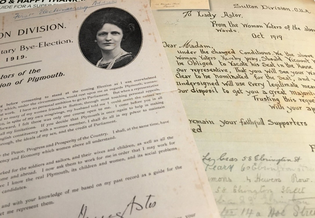 Nancy Astor Papers online: 'An Unconventional MP' @LadyAstor100