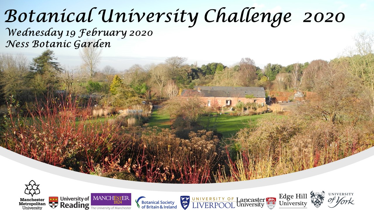 What would smell as sweet by any other name? Botanical University Challenge 2020!