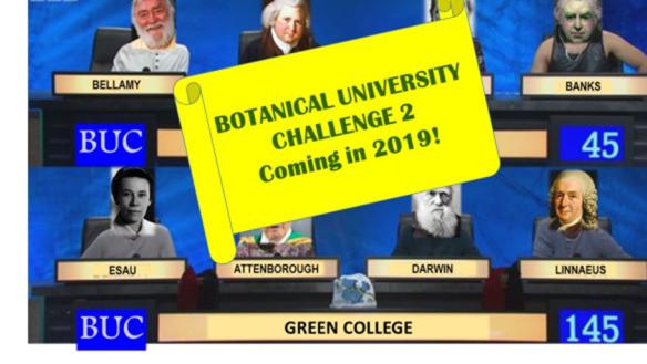Botanical University Challenge #2 – 20 February 2019