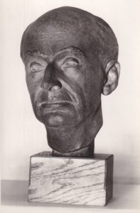 Vintage photo of Percy's bust