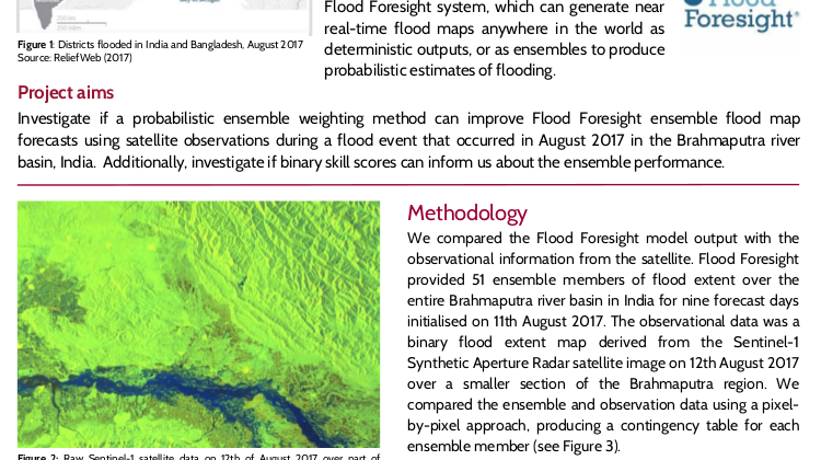 Flood Inundation Mapping with Data Assimilation or Summary of Zhiqi Hu MSc thesis