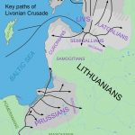 The key paths of the crusades in Livonia and Prussia and their targets