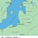 Map of the modern eastern Baltic states