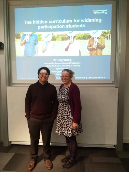 NEWS – Dr. Billy Wong (Associate Professor in Widening Participation) was invited speaker for the Centre for Social Mobility at the University of Exeter