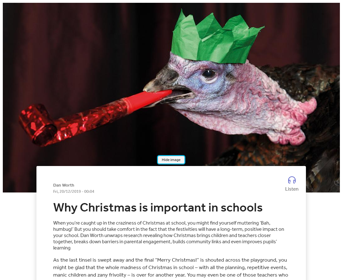 NEWS – Prof. Carol Fuller was interviewed for a Times Educational Supplement (TES) article