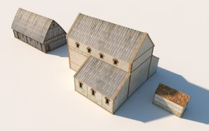 Digital reconstruction of an early phase of the church, around 700 AD