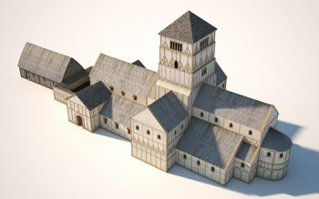 Digital reconstruction of the last phase of the Anglo-Saxon church, around 1000 AD