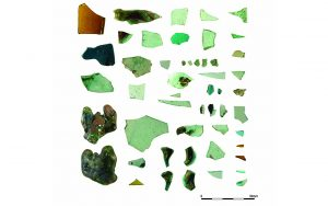 A selection of glass (photograph: C. Steele)