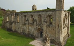 The Lady Chapel at Glastonbury Abbey, as it exists today.