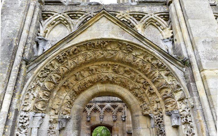 Carvings on the north door of the Lady Chapel at Glastonbury Abbey (© Glastonbury Abbey; photograph: David Cousins)