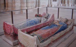 Henry II's tomb at Fontevrault, Anjou, France (© Living History Today)