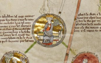 Edmund the Elder in 'Genealogical Chronicle of the English Kings' (© The British Library Board, Royal MS 14 B VI)