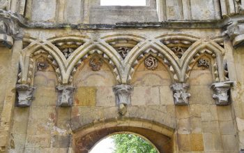 Chevron ornamentation at Glastonbury Lady Chapel (© Glastonbury Abbey; photograph: David Cousins)