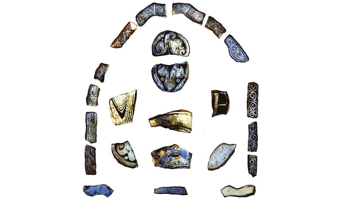 12th-century blue stained glass (photograph: Cheryl Green)