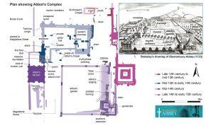 A plan detailing the Abbot's complex (© Liz Gardner)