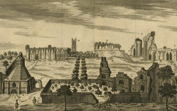 William Stukeley's 1724 southern aspect (© Glastonbury Antiquarian Society)