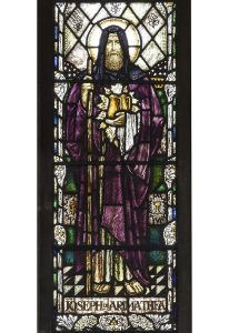 Stained glass window depicting Joseph of Arimathea