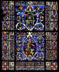 Canterbury Cathedral Jesse Tree window – comparative material for Glastonbury's Lady Chapel interior (public domain)