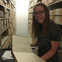 UROP student University of Reading Rachel in the MERL archives