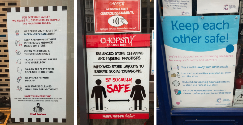 Signs of the times: COVID-19 and public health notices
