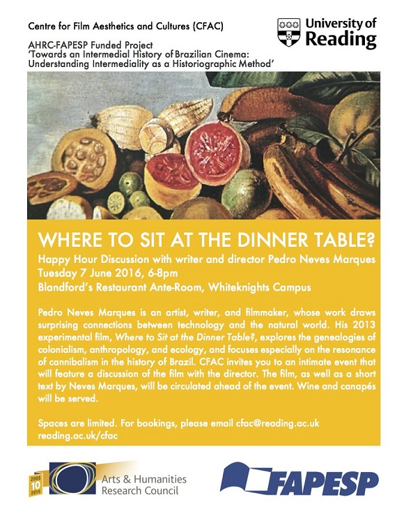Where to Sit at the Dinner Table flyer