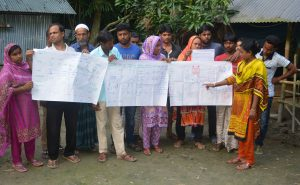 Farmers presenting completed PICSA activities