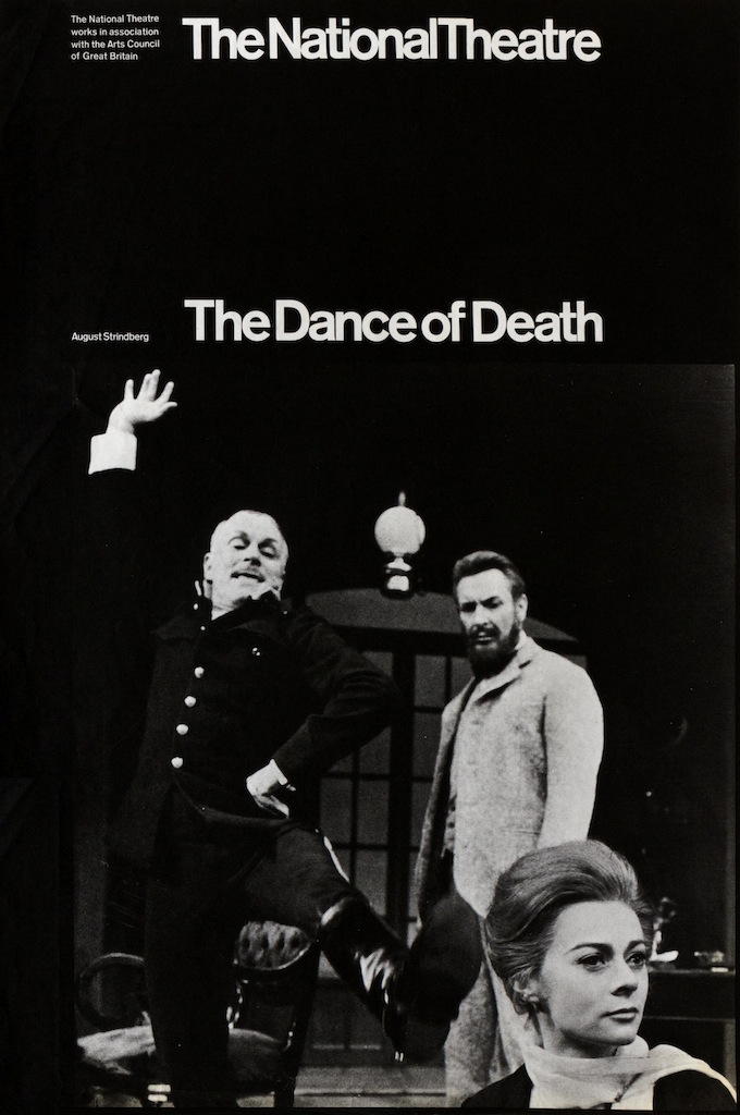 National Theatre poster, Dance of Death, Old Vic Ken Briggs