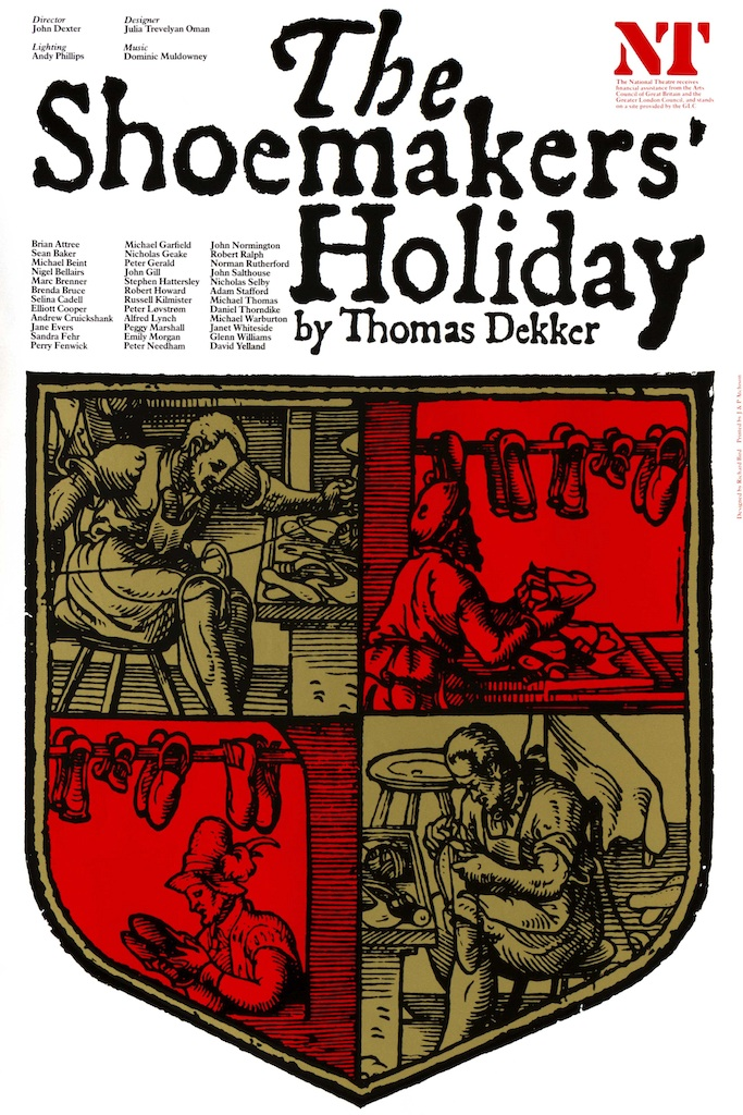 The Shoemakers' Holiday, Olivier Theatre, Richard Bird, National Theatre poster
