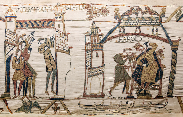 A scene from the Bayeux Tapestry