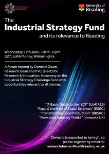 Industrial Strategy Forum poster