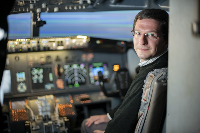 The University of Reading's Professor Paul Williams whose research looks at aviation turbulence and climate change.