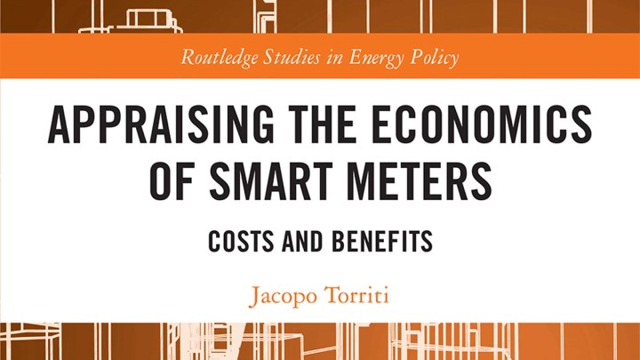 Jacopo's new book: Appraising the Economics of Smart Meters