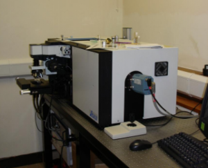 One of many OTTLE Cell applications involving a Raman Microscope system