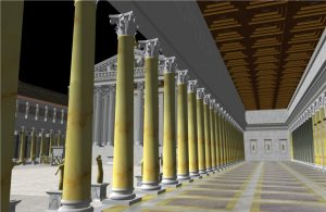 3D model showing inside the portico of Forum Augustum.