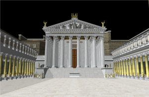 3D model showing the Temple to Mars the Avenger (Mars Ultor)