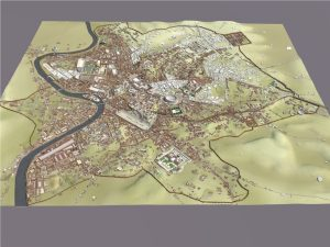 3D image of Ancient Rome from overhead