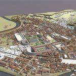 Birdseye view of Campus Martius (3D render)